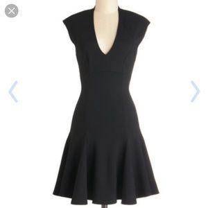 Modcloth Mystic black fit and flare mini dress